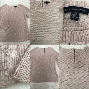 American Eagle Outfitters Womens Sweater blush  L